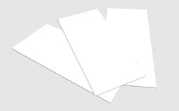 Blank white 4x8 inch flyer collection - 12. Blank white paper flyer isolated on Background Royalty Free Stock Photography