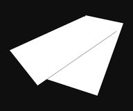 Blank white 4x8 inch flyer collection - 13. Blank white paper flyer isolated on Background Stock Photos