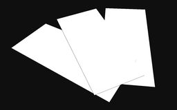 Blank white 4x8 inch flyer collection - 15. Blank white paper flyer isolated on Background Royalty Free Stock Photos