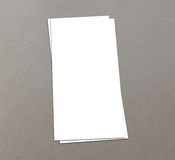 Blank white 4x8 inch flyer collection - 19. Blank white paper flyer isolated on Background Royalty Free Stock Photos