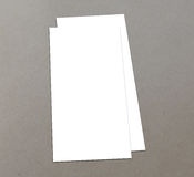 Blank white 4x8 inch flyer collection - 20. Blank white paper flyer isolated on Background Royalty Free Stock Photos