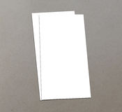 Blank white 4x8 inch flyer collection - 21. Blank white paper flyer isolated on Background Royalty Free Stock Photos