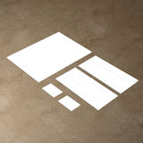 Blank white 4x8 inch flyer collection - 23. Blank white paper flyer isolated on Background Stock Photos