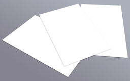 Blank white 4x8 inch flyer collection - 25. Blank white paper flyer isolated on Background Royalty Free Stock Photos