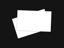 Blank white business card (3.5in x 2in) collection - 10. Blank white Business card bundle on background, white blank business card, Blank corporate identity Stock Image