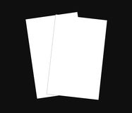 Blank white business card (3.5in x 2in) collection - 8. Blank white Business card bundle on background, white blank business card, Blank corporate identity Stock Image