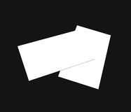 Blank white business card (3.5in x 2in) collection - 2. Blank white Business card bundle on background, white blank business card, Blank corporate identity Royalty Free Stock Image