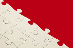 Blank white jigsaw Stock Photo