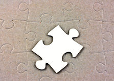 Blank white jigsaw piece Royalty Free Stock Photo