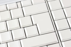 Blank white keys on a computer keyboard Stock Image
