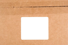Carboard box with label Royalty Free Stock Image