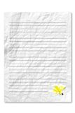 Blank white letter paper Royalty Free Stock Images