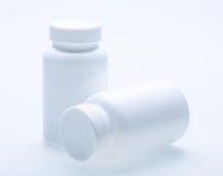 Blank White Medicine Bottle Royalty Free Stock Images