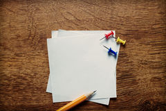 Blank white memo pages Stock Image