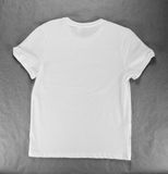 Blank White Men's T-shirt design template. Royalty Free Stock Images