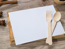Blank white menu paper template  background and  Spicy herb ing Stock Images