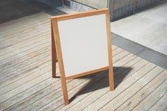 Blank white menuboard Royalty Free Stock Image