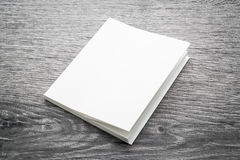 Blank white mock up book Stock Photos