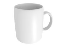 Blank white mug Stock Photos