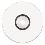 Blank white music cd Royalty Free Stock Photography