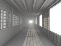 Blank white neutral hallway corridor Stock Images