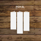 Blank white note papers, ready for your message. Vector illustra Stock Photos