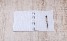 Blank white notebook on the desk Royalty Free Stock Image