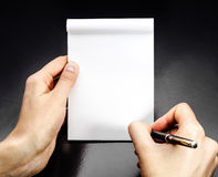Blank white notebook Royalty Free Stock Image