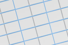 Blank white notebook with metal spiral bound on blue background. Grid of open sketchbooks. Business or education mockup. 3D rendering illustration Stock Images