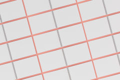 Blank white notebook with metal spiral bound on red background. Grid of open sketchbooks. Business or education mockup. 3D rendering illustration Royalty Free Stock Photos