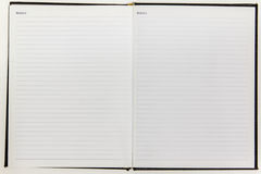 Blank white notebook paper. Isolate on white background texture Stock Photo