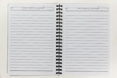 Blank white notebook paper. Isolate on white background texture Royalty Free Stock Image
