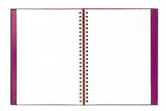 Blank white notebook paper isolate on white background Royalty Free Stock Image