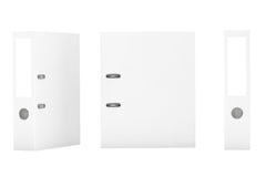 Blank White Office Binders Stock Image