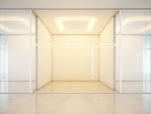 Blank white office interior Stock Photography