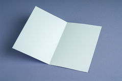 Blank white open gift card Royalty Free Stock Image