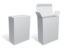 Blank White Package Box Royalty Free Stock Photography
