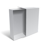Blank White Package Box Royalty Free Stock Images