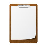 Blank white page clip Stock Photo