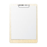 Blank white page clip Royalty Free Stock Photography