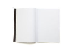 Blank white page magazine. Isolated on white background Stock Image