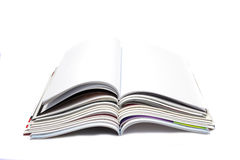 Blank white page magazine Stock Images