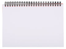 Blank White Page of Notepad Royalty Free Stock Photo