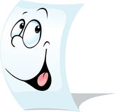 Blank white page, a sheet of paper with face Stock Photo