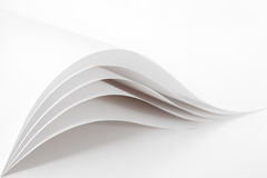 Blank and white pages Stock Photo