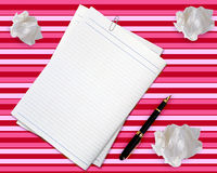 Blank white paper Royalty Free Stock Photos