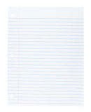 Blank white paper Royalty Free Stock Photography