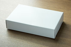 Blank white paper box Royalty Free Stock Photography
