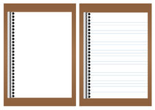 Blank white paper on brown board Stock Images
