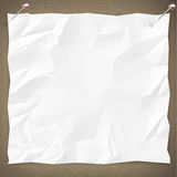 Blank White Paper on Bulletin Board. A blank white copy is pinned to a bulletin board Royalty Free Stock Images